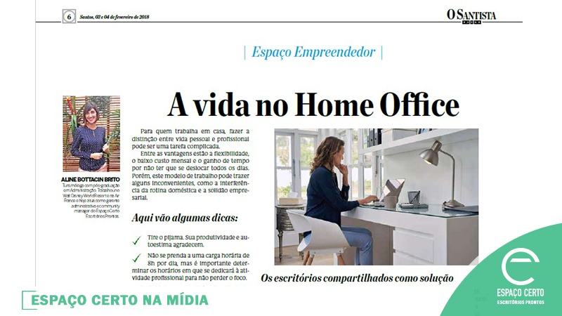 Arte do blog - A vida no Home Office
