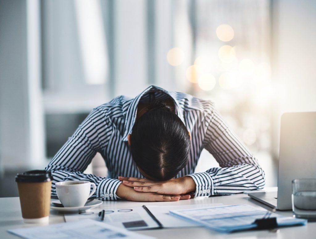 Baixa produtividade no trabalho